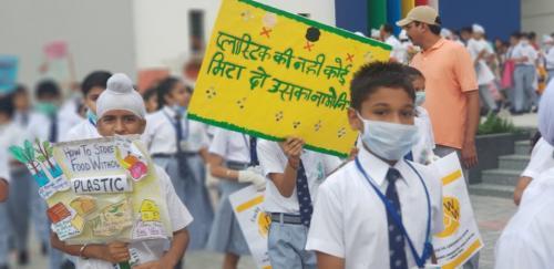 FIT India Plogging Run at Bal Bharati Public School